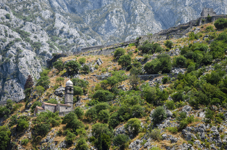 The oldest church in the mountains  Kotor photo