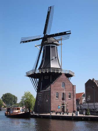 Dutch windmill in Haarlem       photo