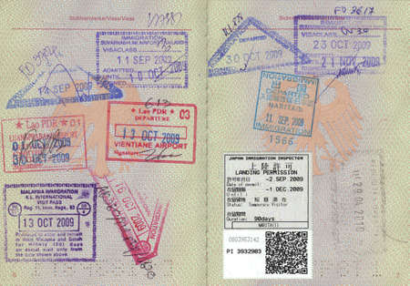 visa: passport stamps