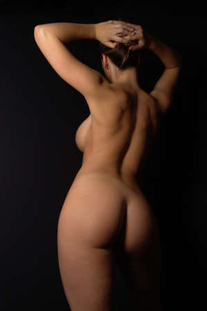 curvy nude                       Stock Photo