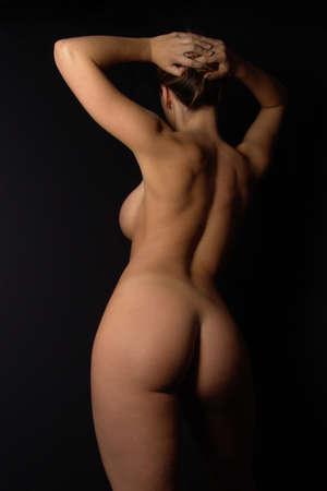 nude: curvy nude                       Stock Photo
