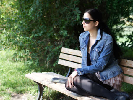 junge woman with sunglasses Stock Photo - 9982234