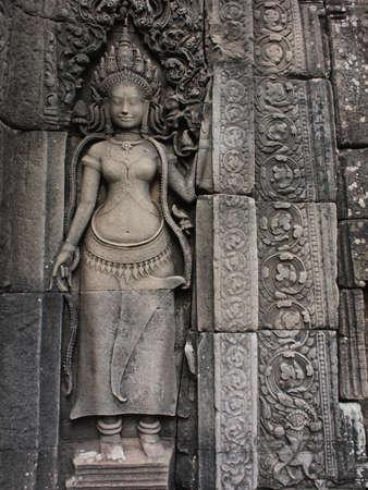 angkor wat: Apsara at Angkor         Stock Photo
