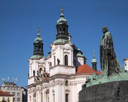 Prague: St. Nicholas church and Jan Hus memorial