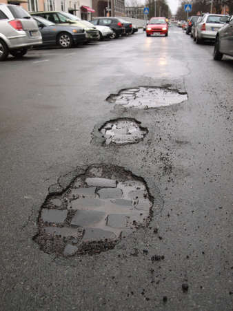 potholes road damage