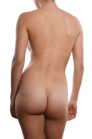 naked woman back: nackte Frau von hinten Lizenzfreie Bilder
