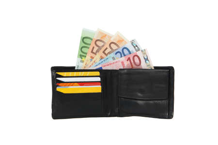wallet with cash and credit cards Stock Photo - 19890409