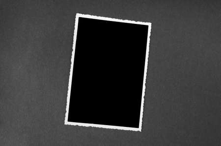 blacked: old photograph with border - blackened out