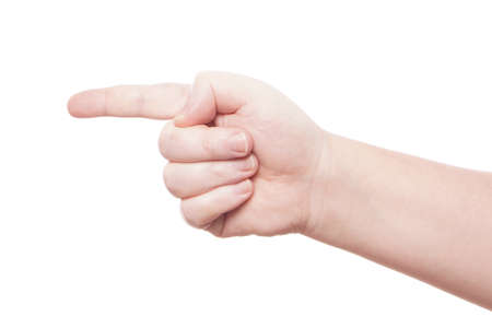 male hand pointing with index finger Stock Photo - 20409036