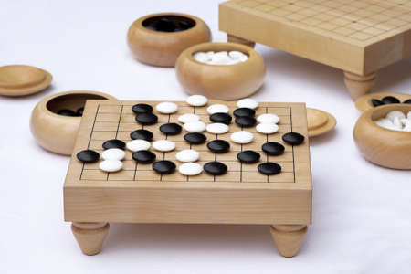 board game: traditional chinese or japanese strategy board game