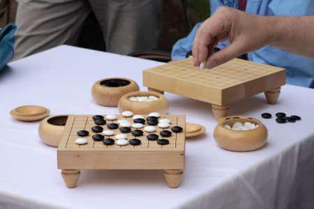 brettspiel: traditionelle chinesische oder japanische Brettspiel