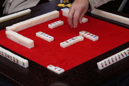 mahjong: mah-jong table game