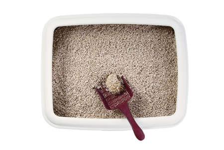 madera pino: caja de arena para gatos con chips de madera de pino biodegradables