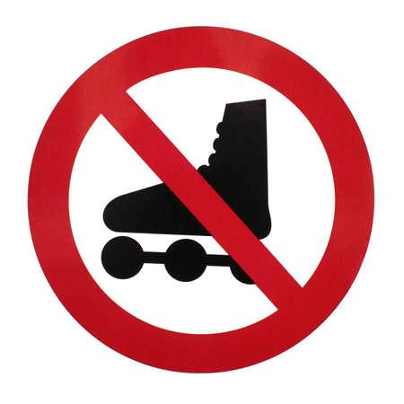 rollerblading: no rollerblading