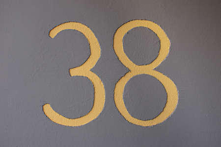 38: house number thirty eight Stock Photo