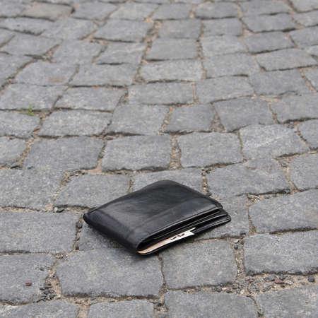 lost wallet Standard-Bild