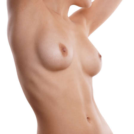 anatomy naked woman: naked female breasts