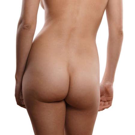 naked: naakte vrouw van achter Stockfoto