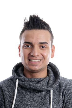 turkish man: young turkish man with spiky hair Stock Photo