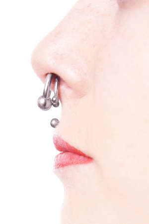 bodypart: septum and medusa piercings