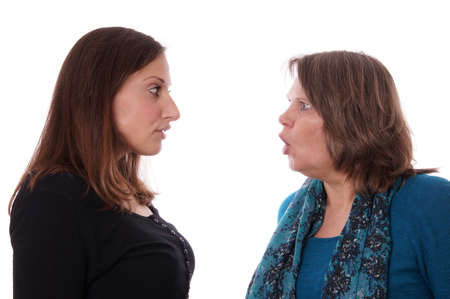 family fight: mother and daughter having a disgreement