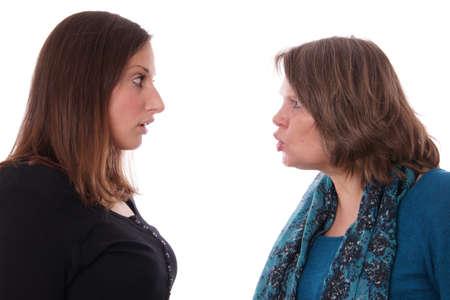 mums: mother shouting at daughter