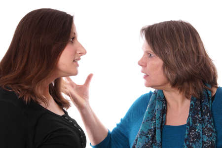 mother and daughter having an argument