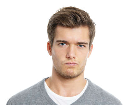 young man making a face photo
