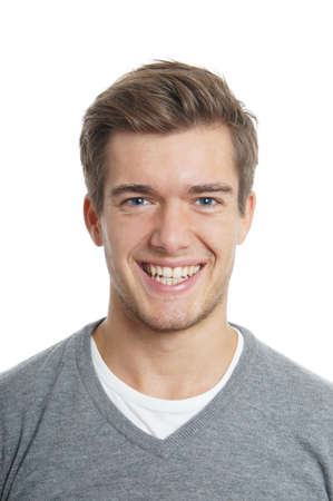 young man with toothy smile photo