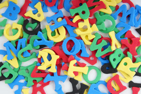 messy heap of sponge rubber characters photo