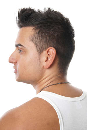 young turkish man with trendy hair style