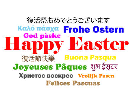 Happy Easter in 12 different languages photo