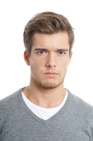 angry young man photo