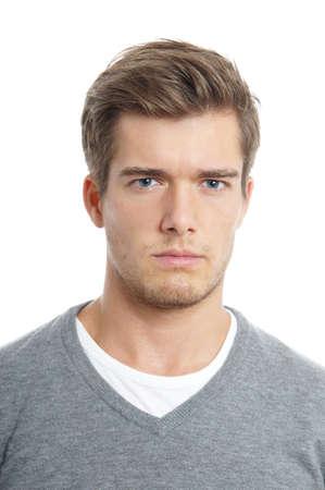 angry young man Standard-Bild