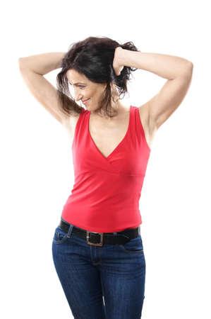 donne mature sexy: attraente donna sulla quarantina