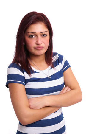 pissed off: young woman looking pissed off Stock Photo