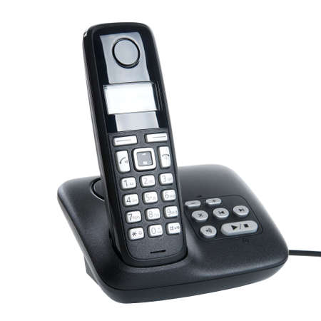 cordless dect phone with charging station and answering machine photo