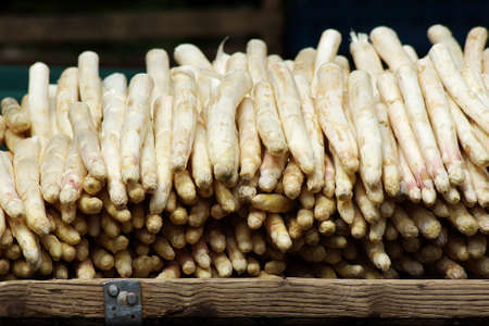 ingedient: market stall with white asparagus