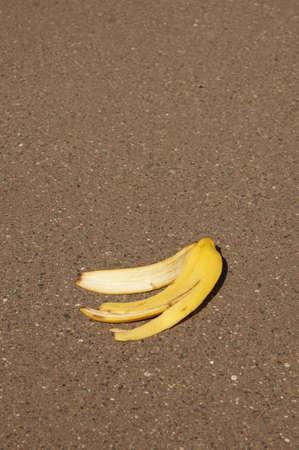 banana peel or banana skin Stock fotó