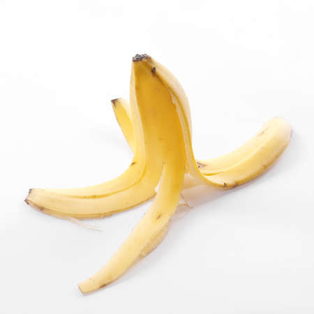 banana skin: banana peel or banana skin Stock Photo