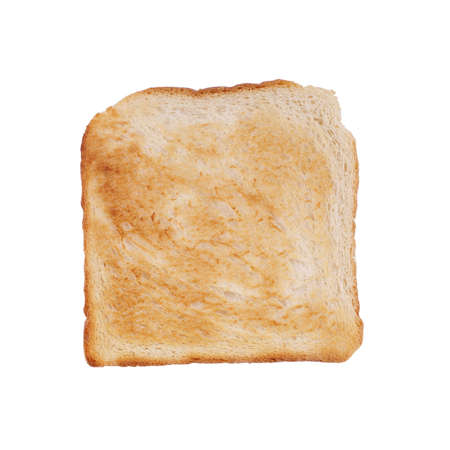 browned: browned toast isolated on white Stock Photo