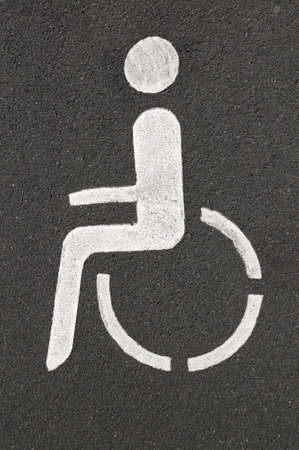 handicapped parking space for the disabled photo