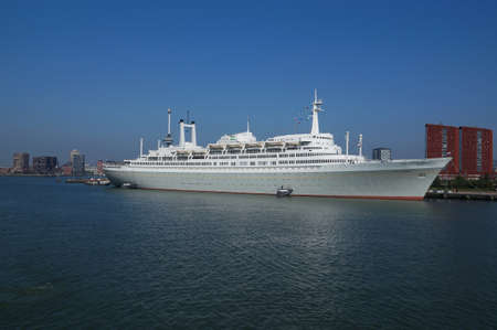 ss: ROTTERDAM, NETHERLANDS - SEPTEMBER 17, 2014:  SS Rotterdam on September 27, 2014 in Rotterdam. The retired SS Rotterdam now serves as a hotel, museum and tourist attraction.