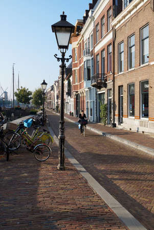 annexed: Rotterdam, Netherlands - September 17, 2014: Delfshaven, originally the port of the city of Delft, was annexed to Rotterdam in 1886.                               Editorial
