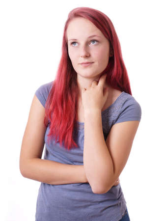sceptical: disinterested young woman is bored or sulking