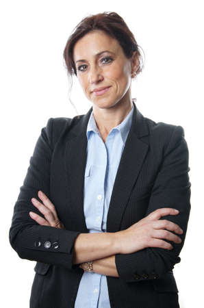 mid age business woman looking confident