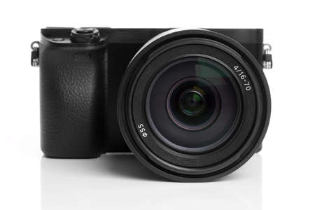 mirrorless interchangeable lens digital camera with zoom lens photo