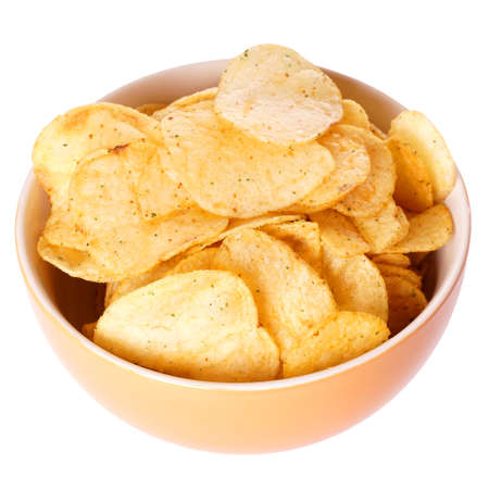 bowl of potato chips or crisps