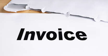 admonition: invoice letter with opened envelope on desk