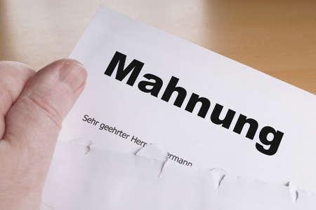 Mahnung Deutsch Mahnwesen Oder Erinnerungsschreiben Mit Geöffneten